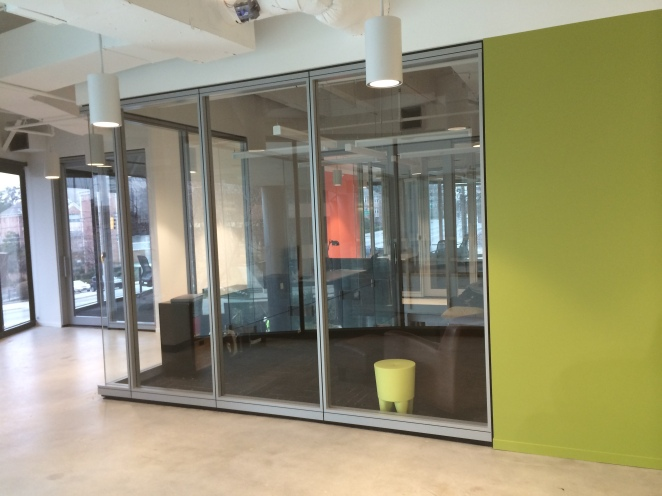 2nd floor glass rooms