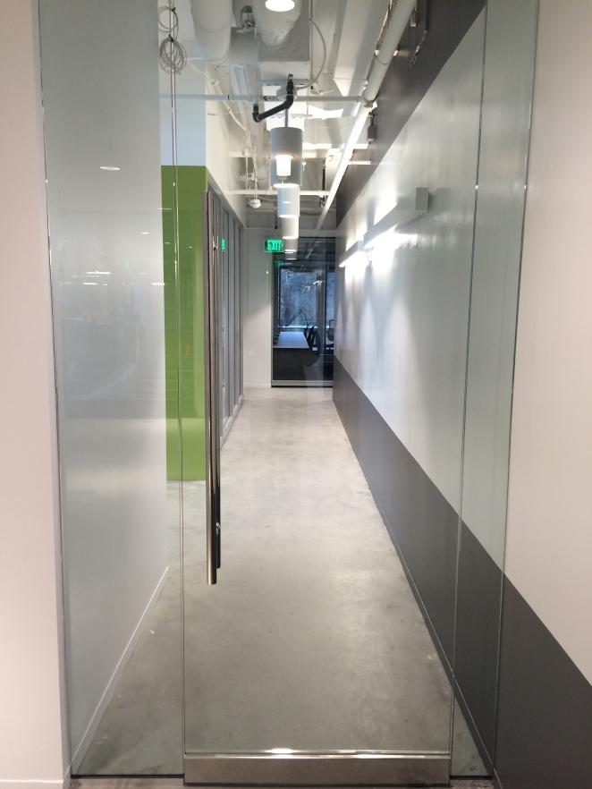2nd floor hallway with idea paint